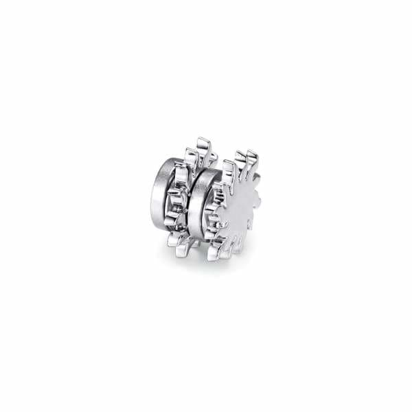 Magnetic Earrings - 22505 Silver - (Intestinal balance promoting magnetic earrings) magnetic jewerly