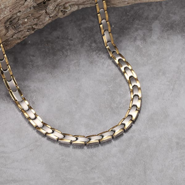 Necklace 1050 Silver Gold - Women / Bio Magnetic Balance 4®