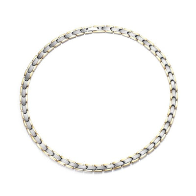 Necklace 1050 Silver Gold - Women / Bio Magnetic Balance 4® Magnetic Necklace