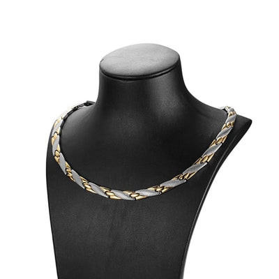 Necklace 501 Silver Gold - Women / Bio Magnetic Balance 4® Magnetic Necklace