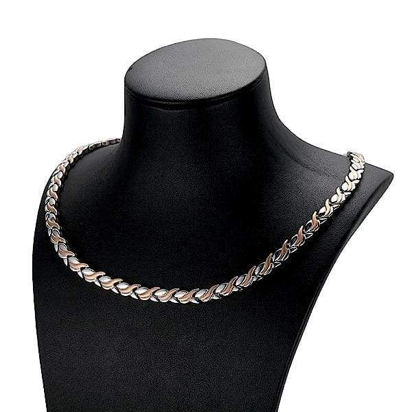 Necklace 60401 Silver Gold Rose - Women / Bio Magnetic Balance