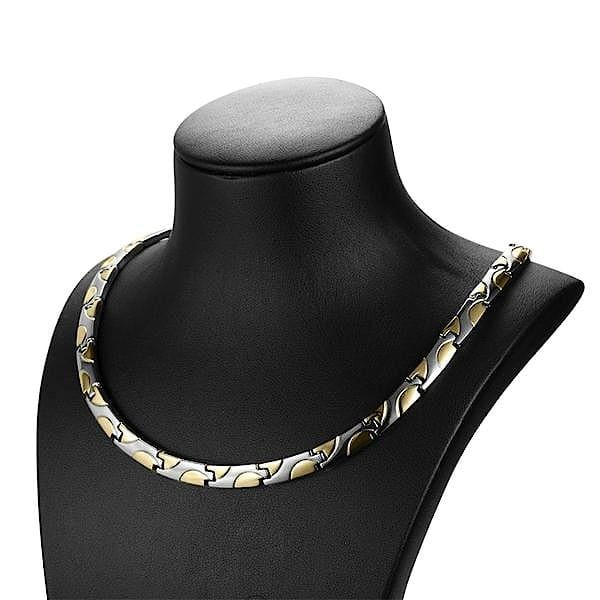 Necklace 90101 Gold Silver - Women / Bio Magnetic Balance