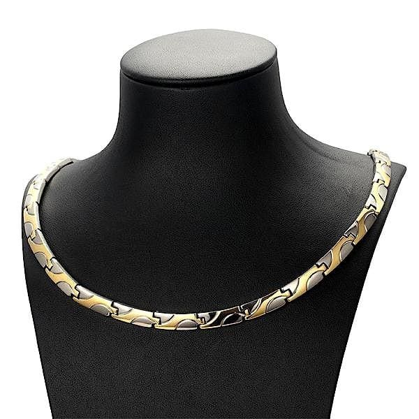 Necklace 90101 Silver Gold - Women / Bio Magnetic Balance