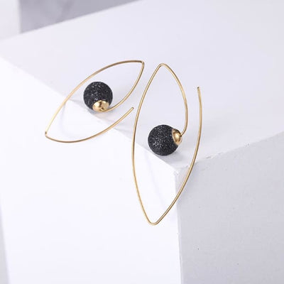 Women's Earrings / Chloe 250 Gold Black Fashion Jewerly