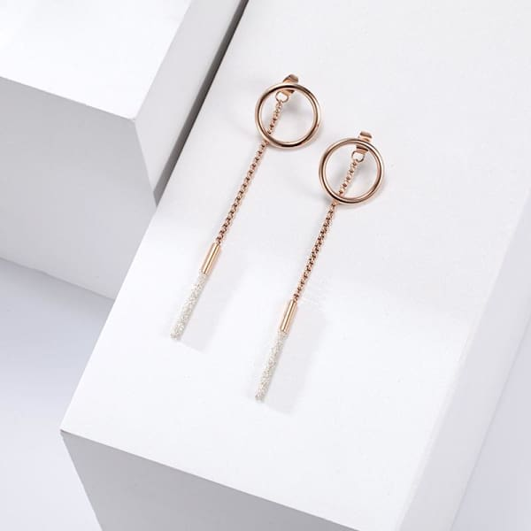 Women's Earrings / Chloe 340 Rose Gold Fashion Jewerly