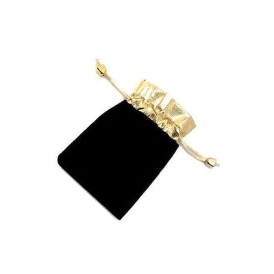 Women's leather Bracelet / Chloe 230 Gold Black Fashion Jewerly