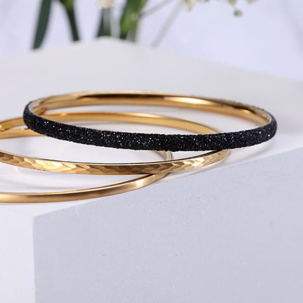 Women's Set Bracelet / Chloe 220 Gold Black Fashion Jewerly