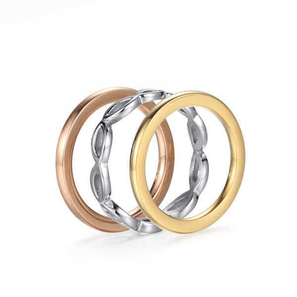 Women's Set Ring  / Chloe 110 Silver Gold
