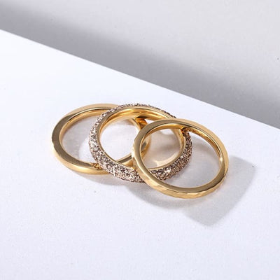 Women's Set Ring / Chloe 220 Gold Fashion Jewerly