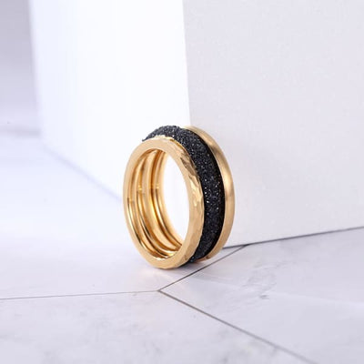 Women's Set Ring / Chloe 220 Gold Black 6 (diam:16.5) Fashion Jewerly