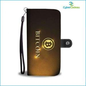 COQUE BITCOIN BLACK GOLD CyberCadeau