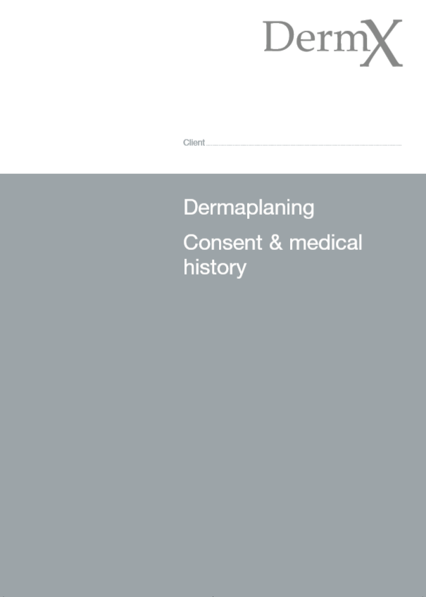 Medical History & Consent - DermX