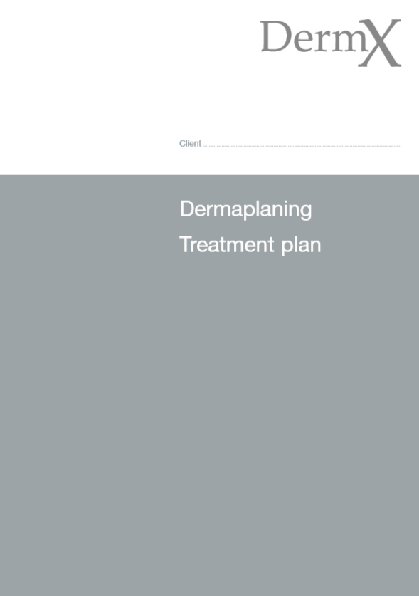 Treatment Plan Forms - DermX