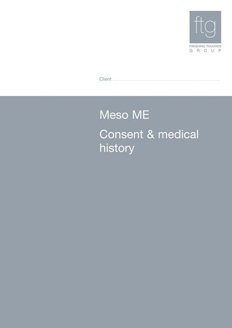 Medical History & Consent Forms - Meso