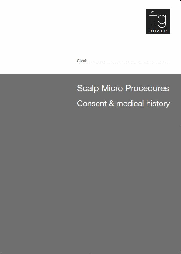 Medical History & Consent Forms - Scalp