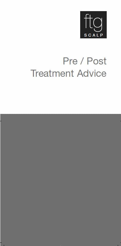 Pre & Post Treatment Leaflet - Scalp
