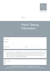 Patch Test Sheet