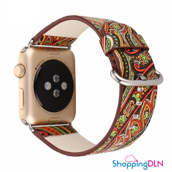 Bracelet Apple Watch vintage style folklor coloré