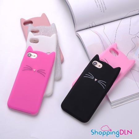 Coque iPhone 3D en forme de chat