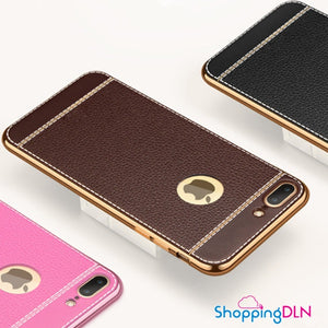 Housse pour iPhone style cuir
