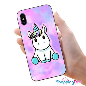 Coque iPhone licorne dégradée