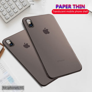 coque iPhone X ultra fine 0,3mm