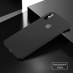 Coque iPhone X noir ultra fine 0.3mm
