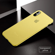 Coque iPhone X ultra fine 0.3mm jaune