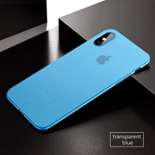 Coque iPhone X bleu ultra fine 0.3mm