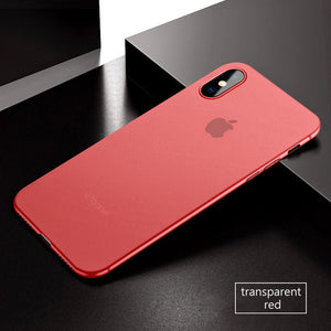 Coque iPhone X ultra fine 0.3mm rouge