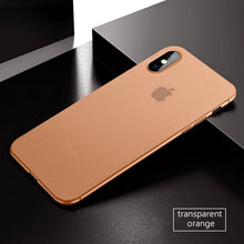 Coque iPhone X ultra fine 0.3mm orange