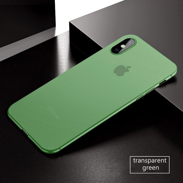 Coque iPhone X vert ultra fine 0.3mm