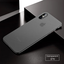 Coque iPhone X ultra fine 0.3mm gris