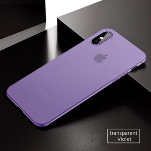 Coque iPhone X ultra fine 0.3mm mauve