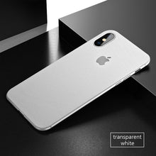 Coque iPhone X blanc ultra fine 0.3mm