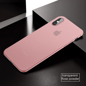 Coque iPhone X ultra fine 0.3mm rose