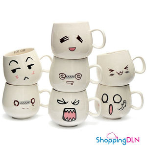 Tasse avec expression kawaii