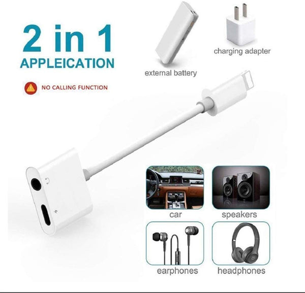Adaptateur Iphone Chargeur Casque