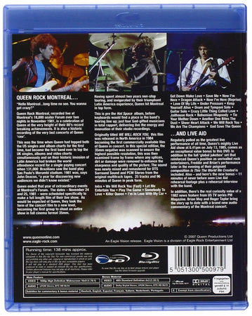 Queen - Rock Montreal & Live Aid 1985 DVD BluRay