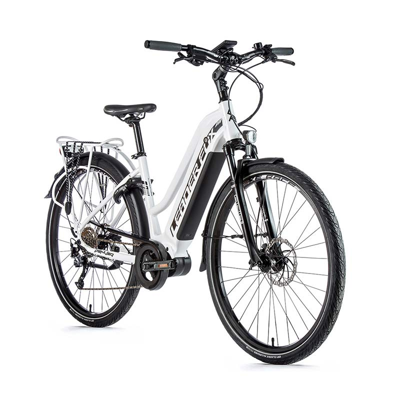 VELO A ASSISTANCE ELECTRIQUE LEADERFOX DENVER LADY BLANC MAT NOIR