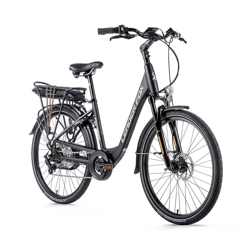 VELO A ASSISTANCE ELECTRIQUE LEADERFOX LOTUS NOIR MAT OR