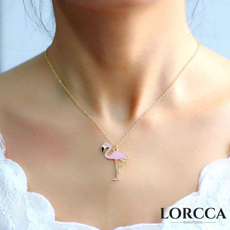 "Collier Flamant rose ""Pink"""