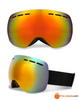 Ski Goggles Winter Snow Sports Snowboard Goggles With Anti-Fog Uv Protection For Men Women Youth Snowmobile Skiing Skating Mask Orange