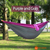 270*140Cm Backpacking Hammock - Portable Nylon Parachute Outdoor Double Hammock Gray + Purple Camping