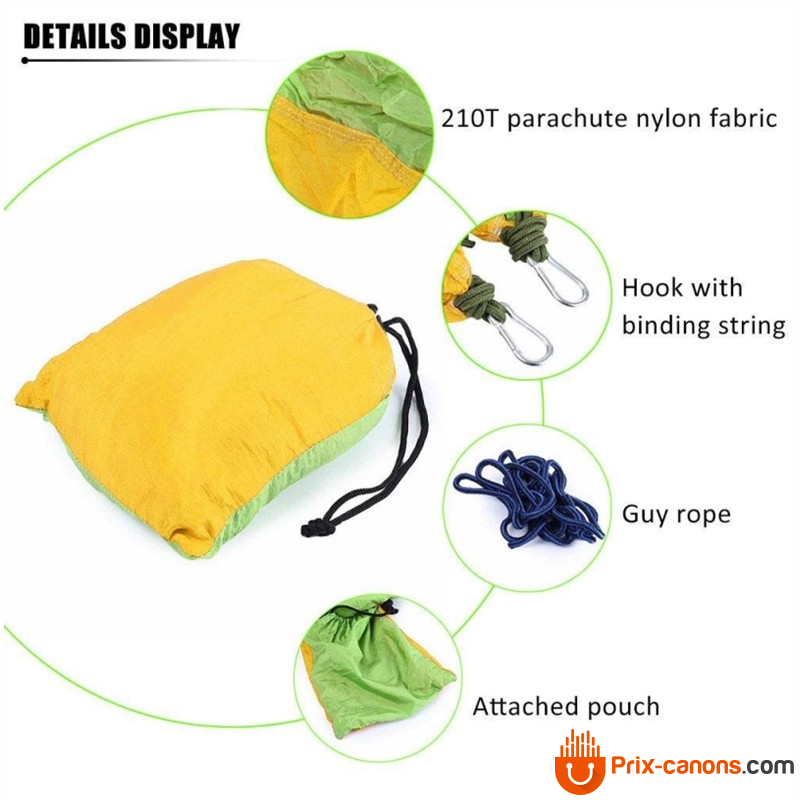 270*140Cm Backpacking Hammock - Portable Nylon Parachute Outdoor Double Hammock Camping