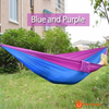 270*140Cm Backpacking Hammock - Portable Nylon Parachute Outdoor Double Hammock Blue + Purple Camping