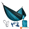 270*140Cm Backpacking Hammock - Portable Nylon Parachute Outdoor Double Hammock Sky + Gray Camping