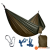 270*140Cm Backpacking Hammock - Portable Nylon Parachute Outdoor Double Hammock Amrygreen+Camel Camping