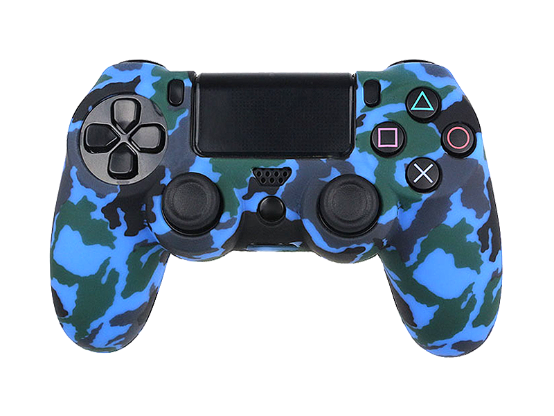Coque de protection manette PS4 MARINE BLUE CAMO