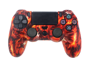 Coque de protection manette PS4 WILDFIRE